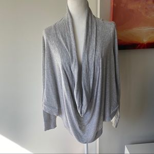 BEBE poncho-style pullover